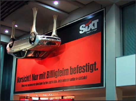 SIXT – Sensation Marketing, Ambient Stunt