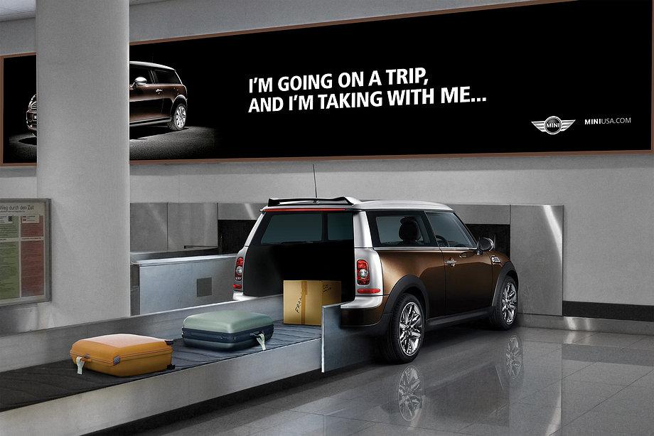 Mini Cooper - Guerilla Marketing am Airport