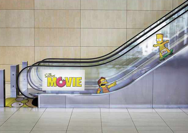 Simpsons Movie - Ambient Marketing Simpsons
