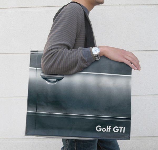VW Golf GTI - Ambient Marketing VW Tragtasche