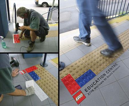 LEGO - Ambient Marketing in der U-Bahn