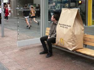 Ambient Marketing Idee Bushaltestelle