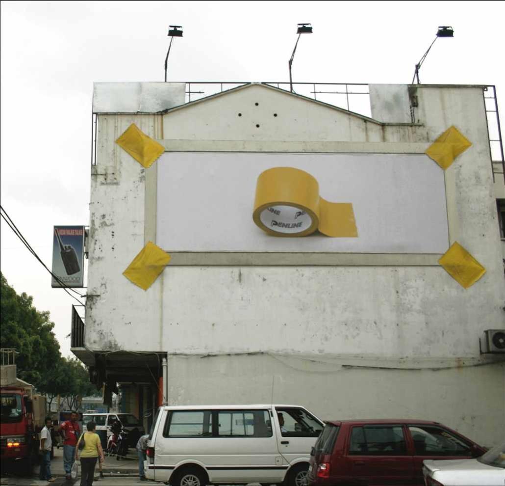 Penline Guerilla Plakatkampagne