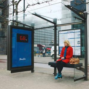 Fitness First Guerilla Marketing Bushaltestelle
