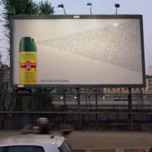 Orphea Guerilla Marketing Plakatwand