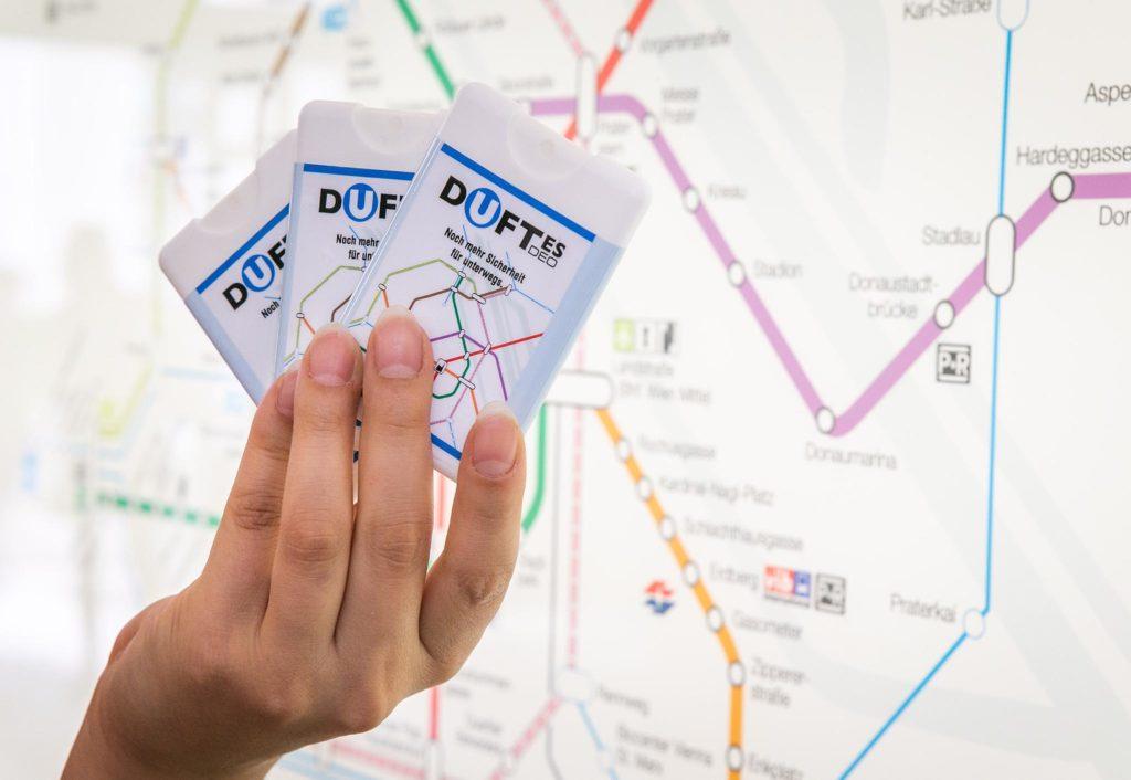 dUfte Deos der Wiener Linien | Guerilla Marketing
